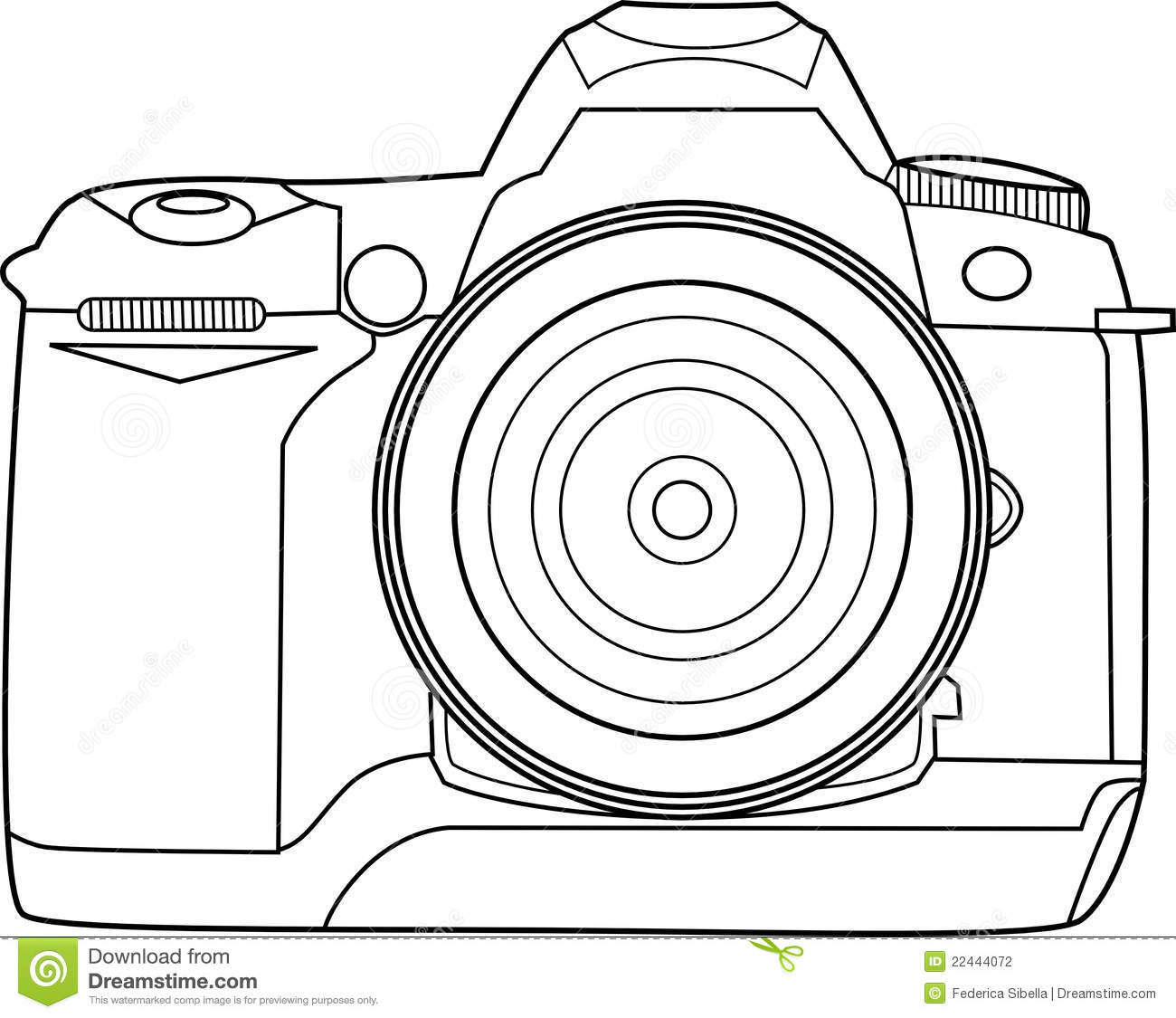 Camera Vector Outline Stock Vector Image Of Photography