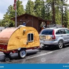 Camping Trailer Usa Ford Focus Door Parts Diagram Camper At Grand Canyon National Park Arizona