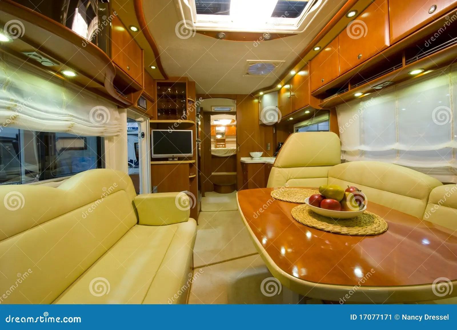 Camping Car Neuf Intrieur Image Stock Image 17077171