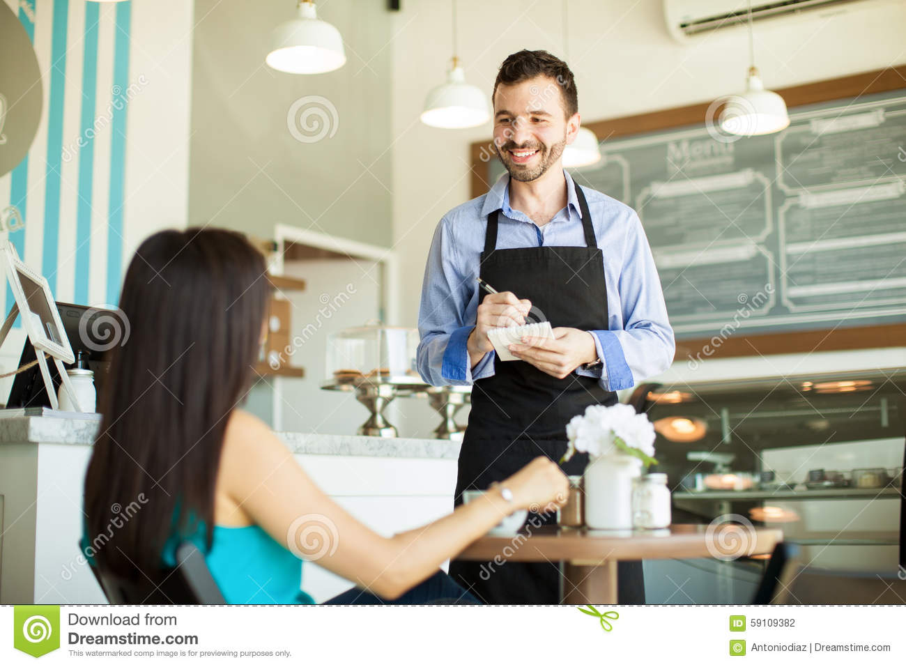 Can I take your order stock photo Image of cafe cozy