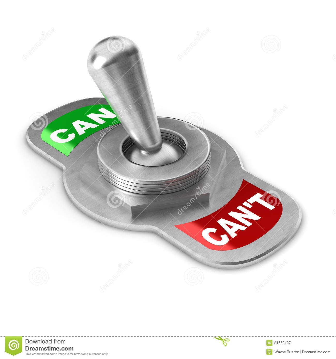 Can Vs Cant Switch Stock Illustration Illustration Of