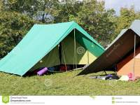 Canadian Tents Set Up In A Boy Scout Camp Stock Image