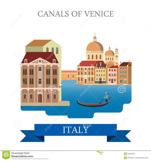 Venice Italy Gondola Cartoon
