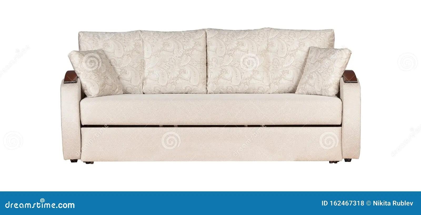 canape blanc avec coussins isoles photo