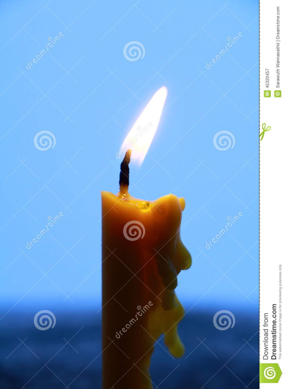 candle stock image image of dessert occasion asia 45320457