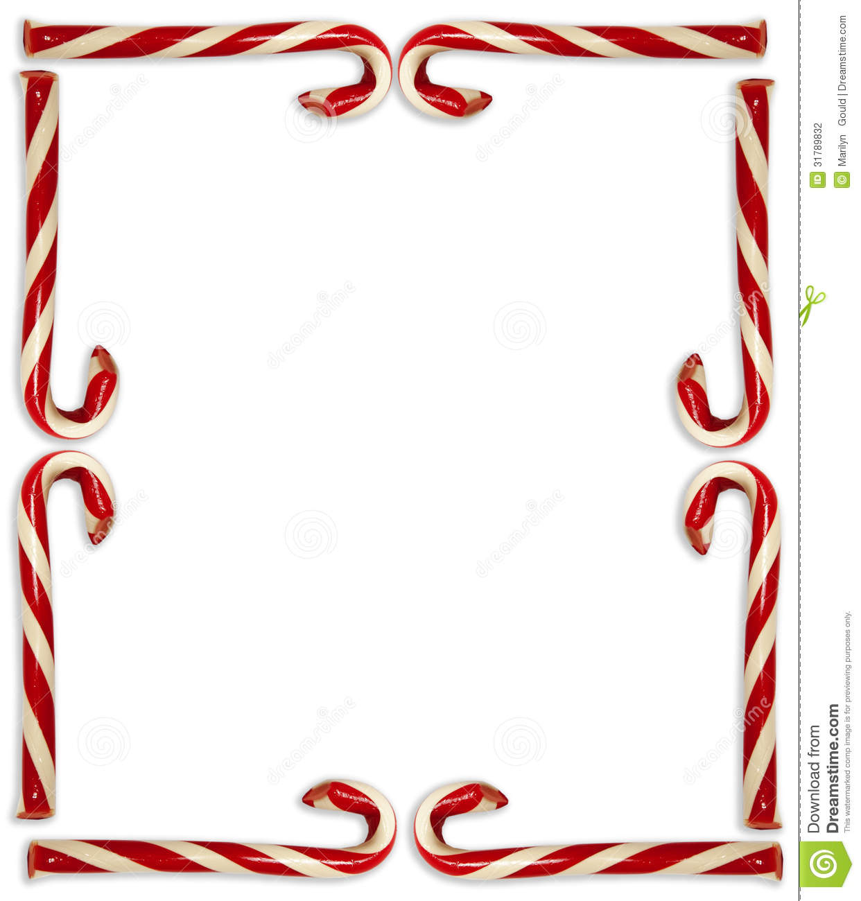 hight resolution of candy cane border