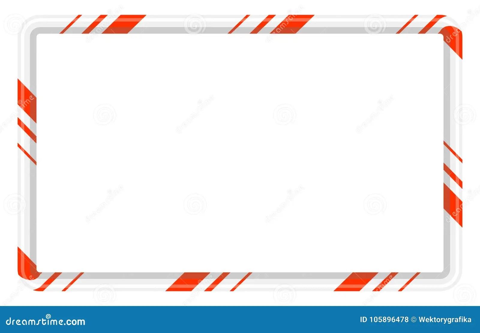 hight resolution of candy cane frame border for christmas design on white b