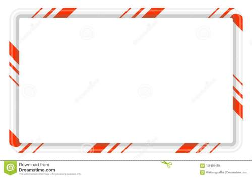 small resolution of candy cane frame border for christmas design on white b
