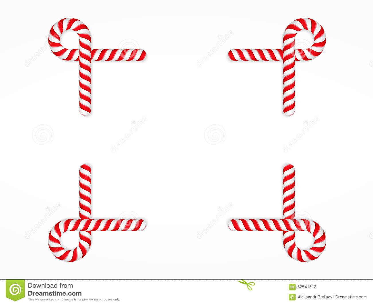 Candy Cane Frame Stock Vector Illustration Of Copy