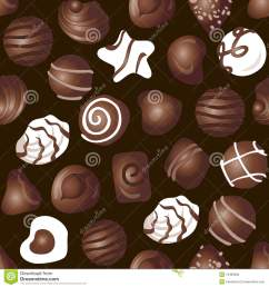 cartoon candy chocolate pattern a lot of different delicious chocolates on a dark brown background  [ 1300 x 1390 Pixel ]