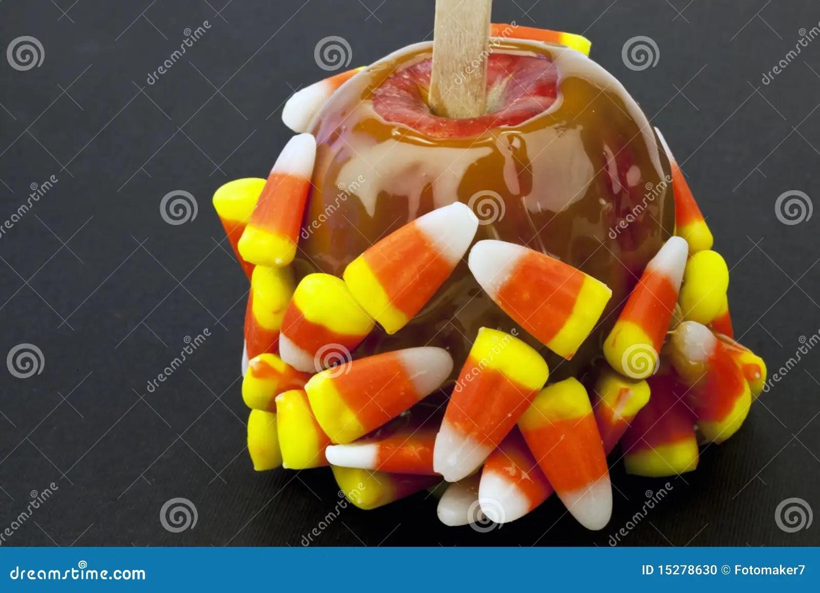 candy corn caramel apple