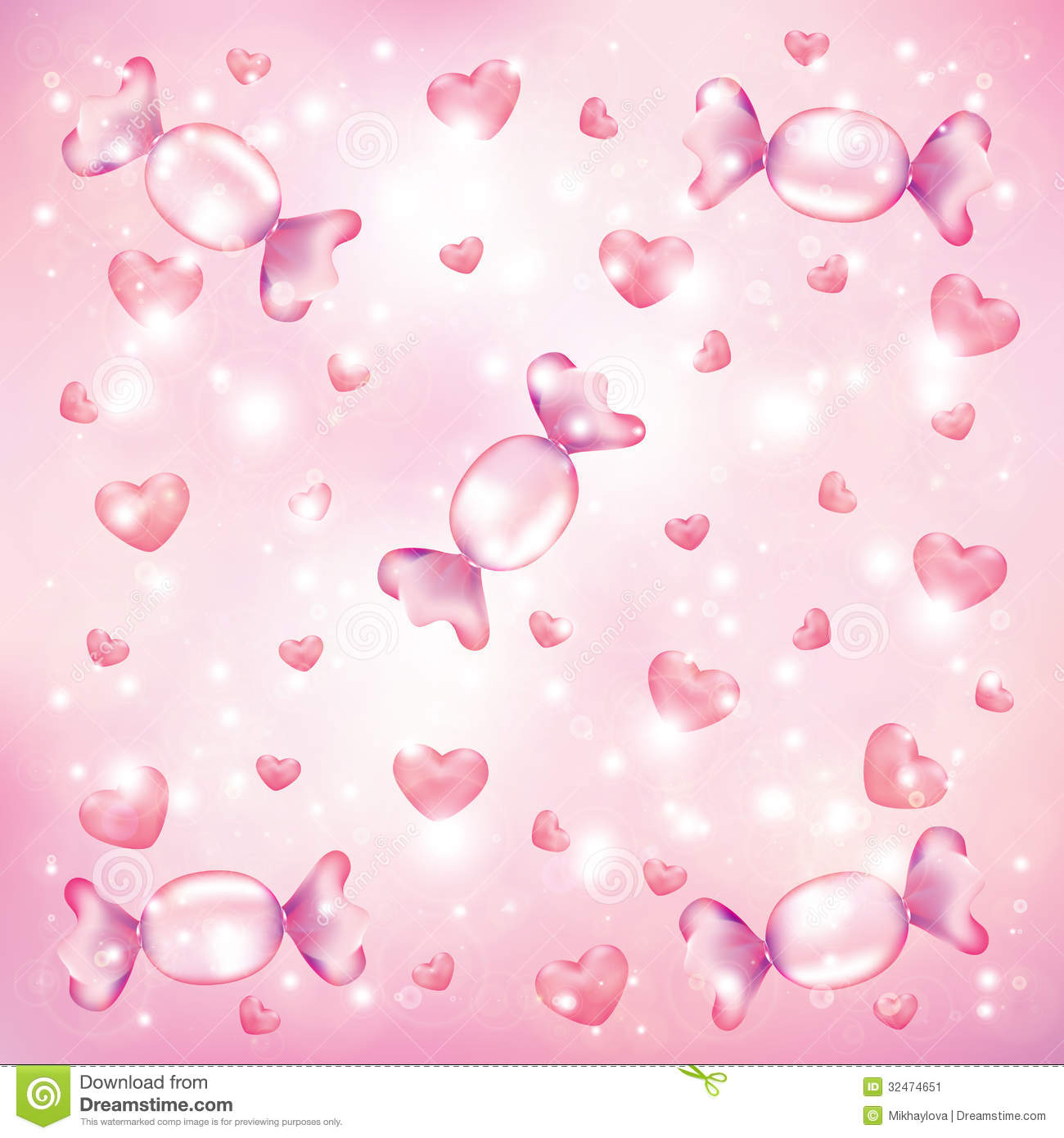 Candy Hearts Background Stock Image Image 32474651