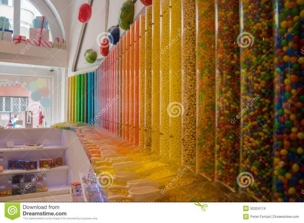 Candy Store Colors Stock - 55324174