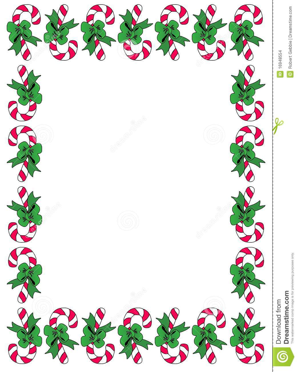 Candycane Border Stock Vector Illustration Of Christmas