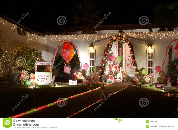 Candyland Christmas Lights Royalty Free Stock