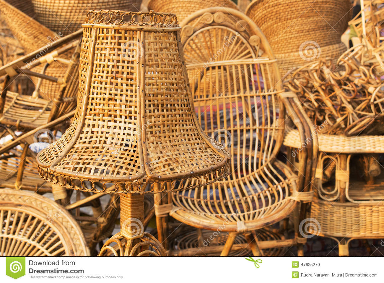 Cane Furnitures Indian Handicrafts Fair Editorial Image  Image 47625270