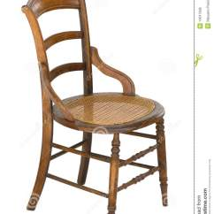 Old Wood Chairs Visitor Chair Design Cane Seat Antique Vintage Isolated Stock Photo Image This Is An With Spindles And A It Has Modified Arms Side View