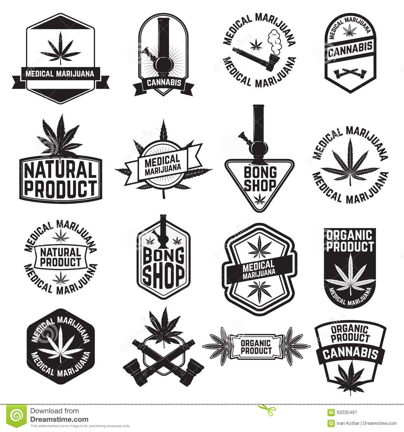 Cannabis2 Stock Vector Illustration Of Badge Leaf