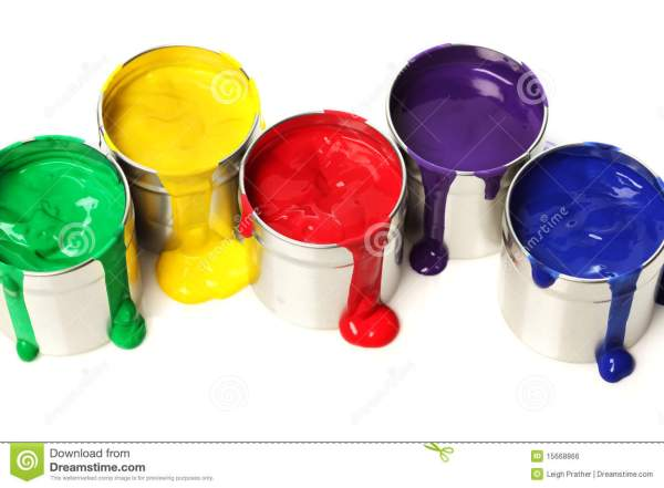 Cans Of Paint Royalty Free Stock - 15668866