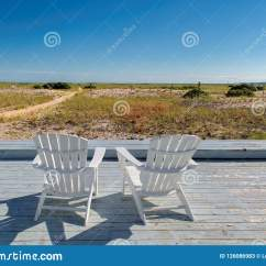 Cape Cod Beach Chair Distressed Leather Dining Room Chairs At Sunset With Stock Image Of