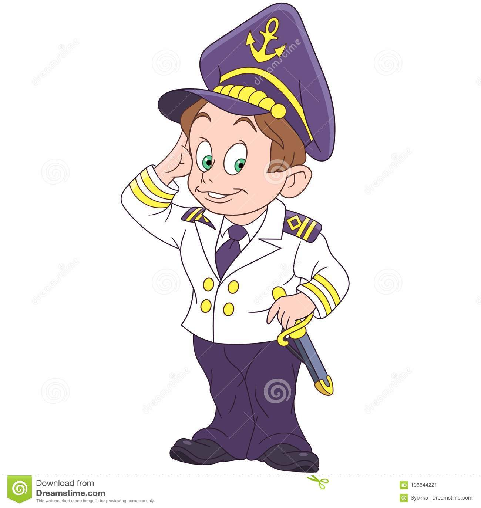 Capitao Marinho Dos Desenhos Animados Marinheiro Da