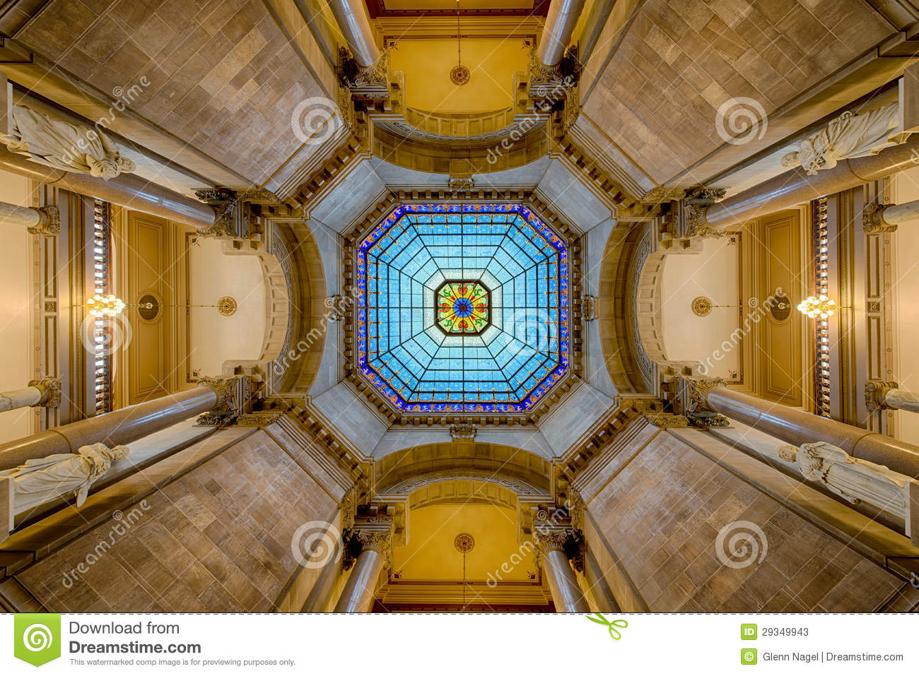 Capitol Dome Interior Symmetry Stock Image