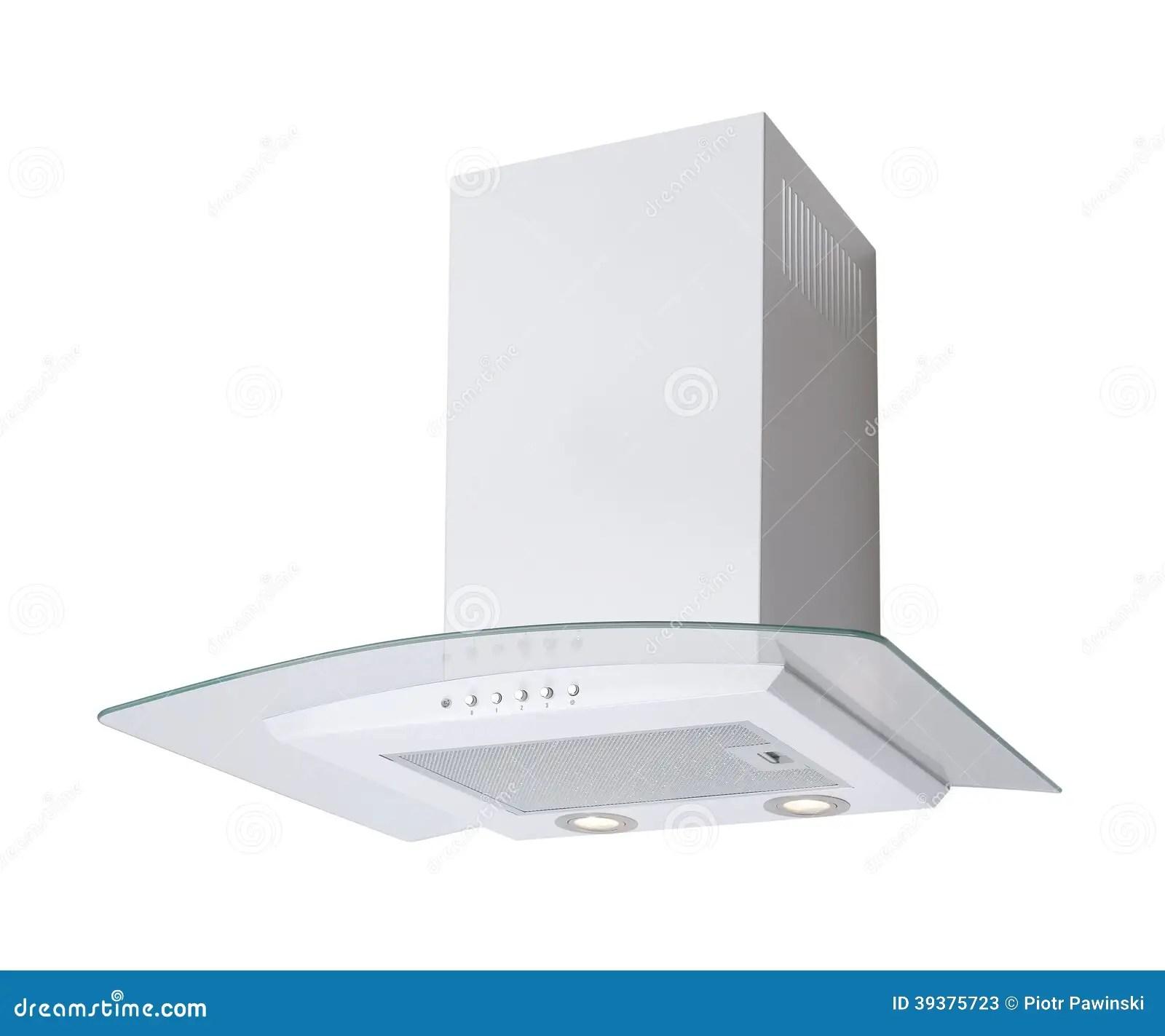 Cappa da cucina bianca immagine stock Immagine di