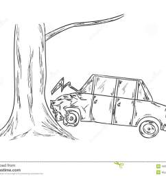 car accident sketch illustration 40079903 megapixlcar accident sketch [ 1300 x 1033 Pixel ]