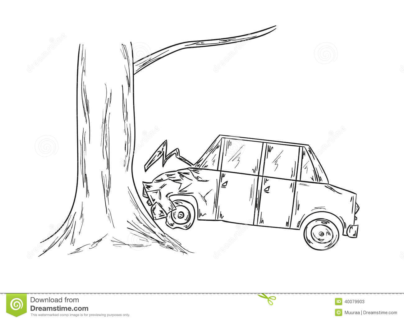 hight resolution of car accident sketch illustration 40079903 megapixlcar accident sketch
