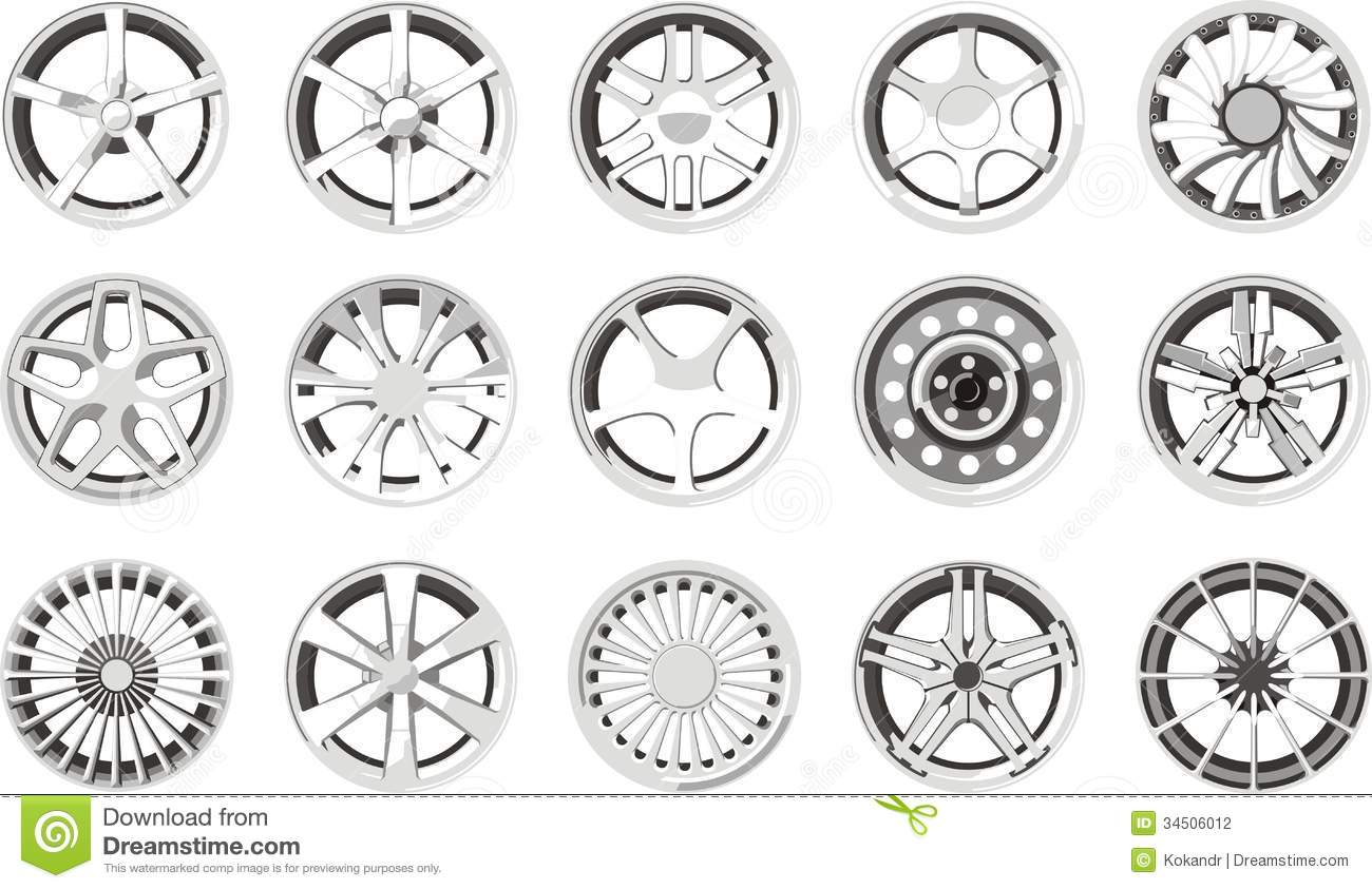 Car Alloy Wheels Stock Photography