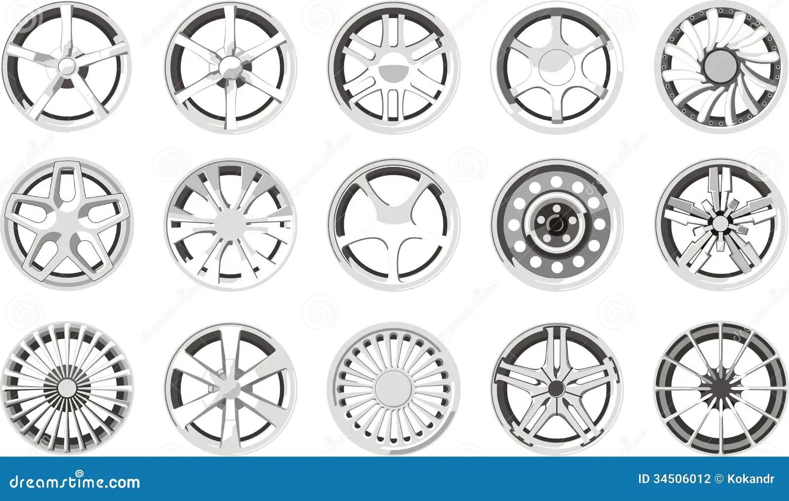 Car Alloy Wheels Stock Photography