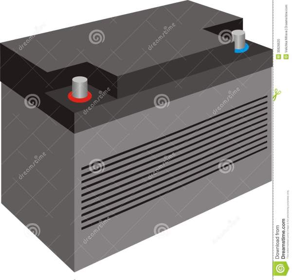 Car Battery With Cover Stock Illustration. Of