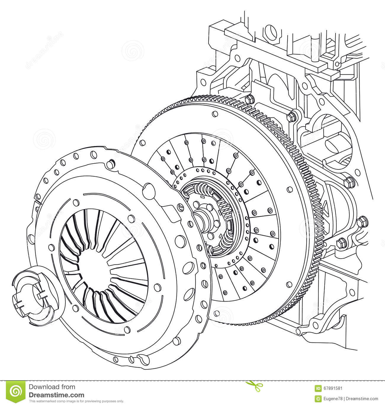 Car Clutch Scheme Stock Vector Illustration Of Accident