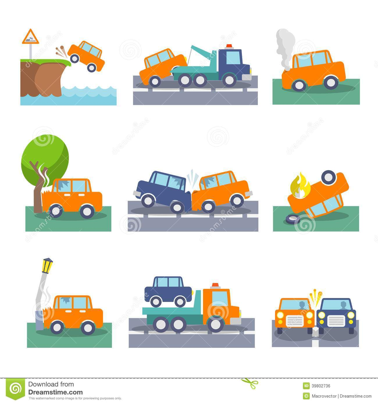 Set Vector Isolated Black Icon Fire Stock Vector Royalty Free Car Crash Icons Stock Vector. Image Of Crash, Icons, Risk