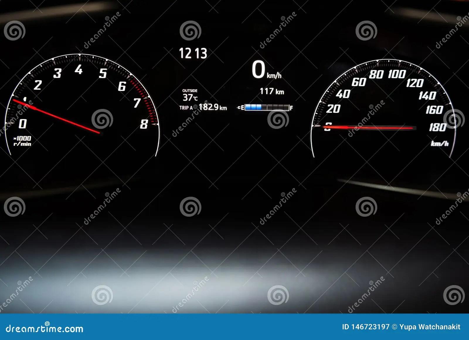 Car Instrument Panel Car Dashboard Stock Image