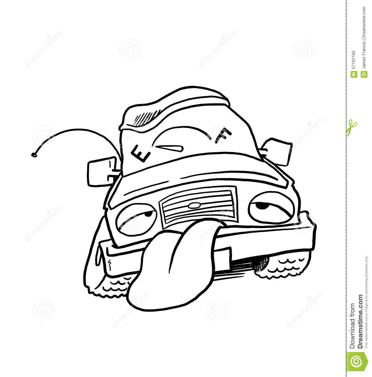 Car Out Of Fuel Stock Illustration Illustration Of