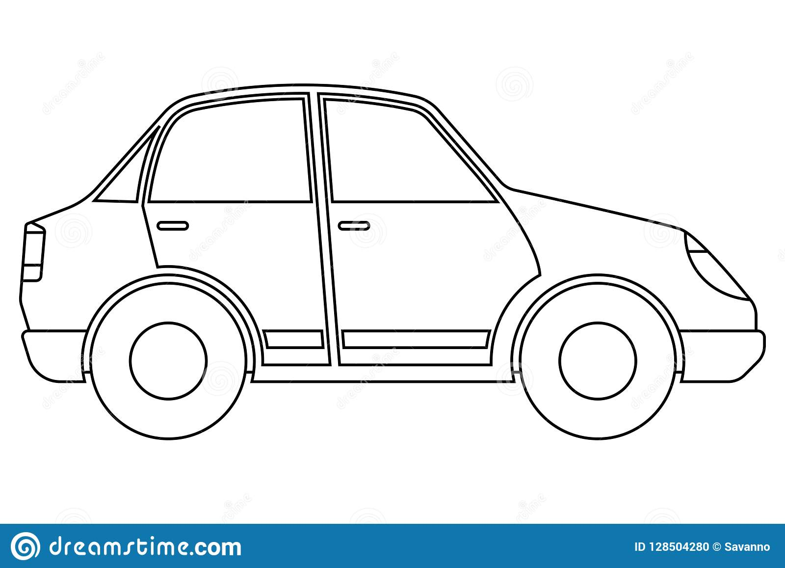 Car Outline Icon Stock Vector Illustration Of Design 128504280