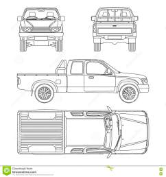 car pickup truck vector illustration [ 1300 x 1390 Pixel ]