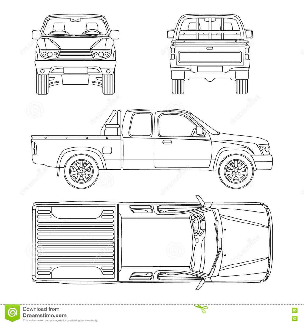 medium resolution of car pickup truck vector illustration