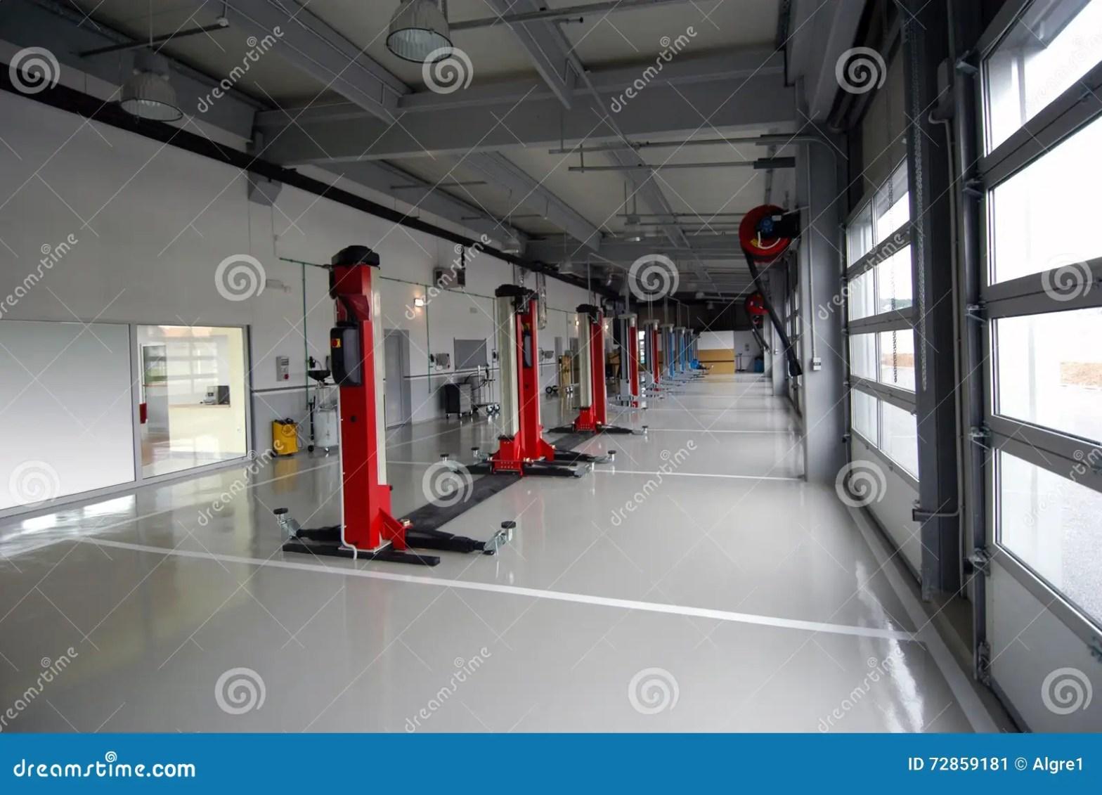 Car Repair Garage Autoservice Stock Image Image Of
