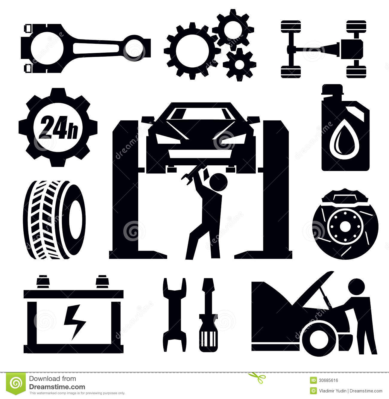 Car Repair Icon Stock Vector Illustration Of Wrench