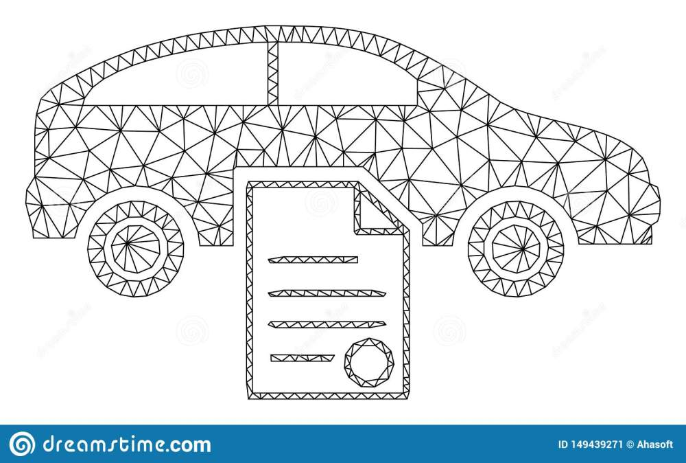 medium resolution of car sale contract polygonal frame vector mesh illustration