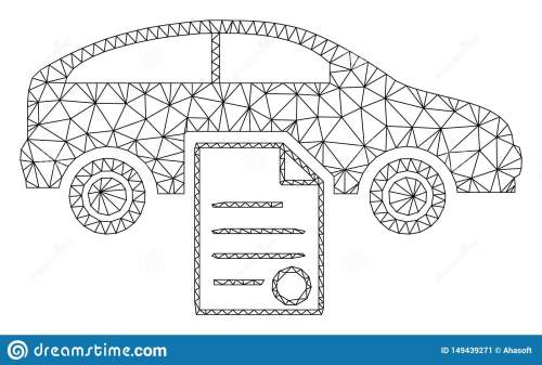 small resolution of car sale contract polygonal frame vector mesh illustration