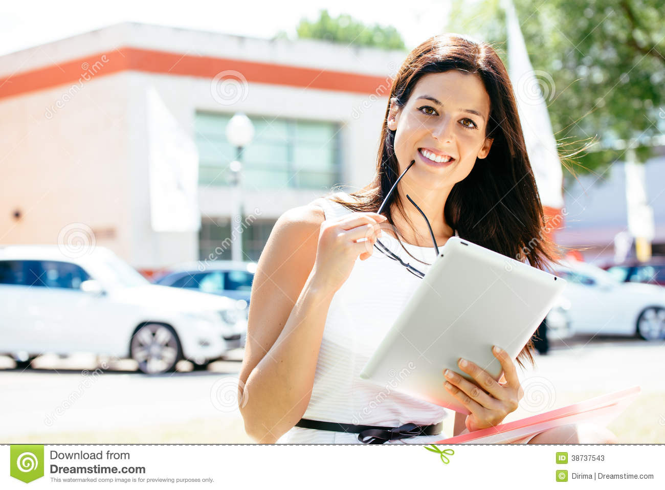 car sales woman with