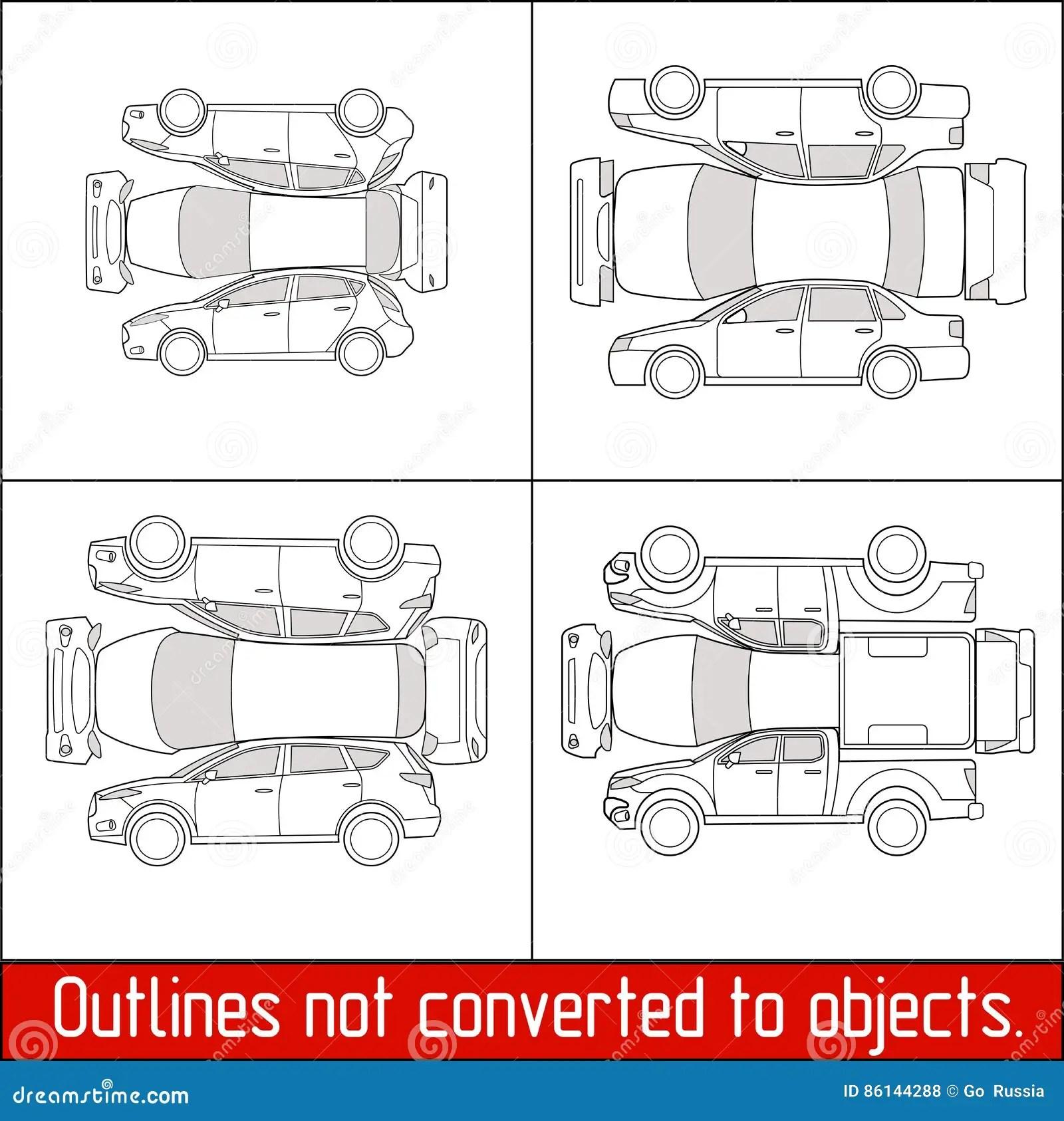 car damage inspection diagram caravan 13 pin socket wiring sedan hatchback suv pickup vehicle check condition and