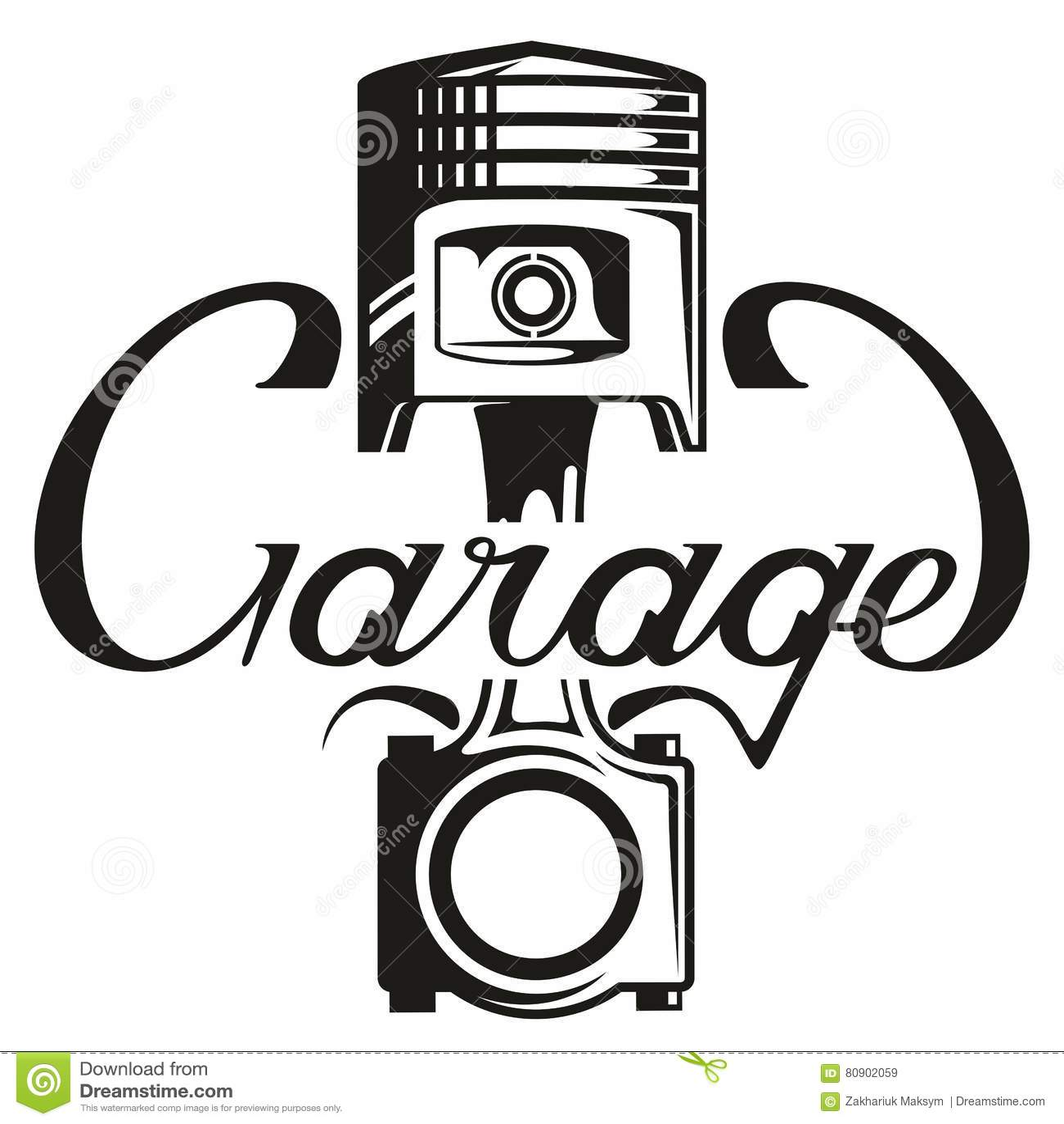 Mechanical Service Logo Cartoon Vector