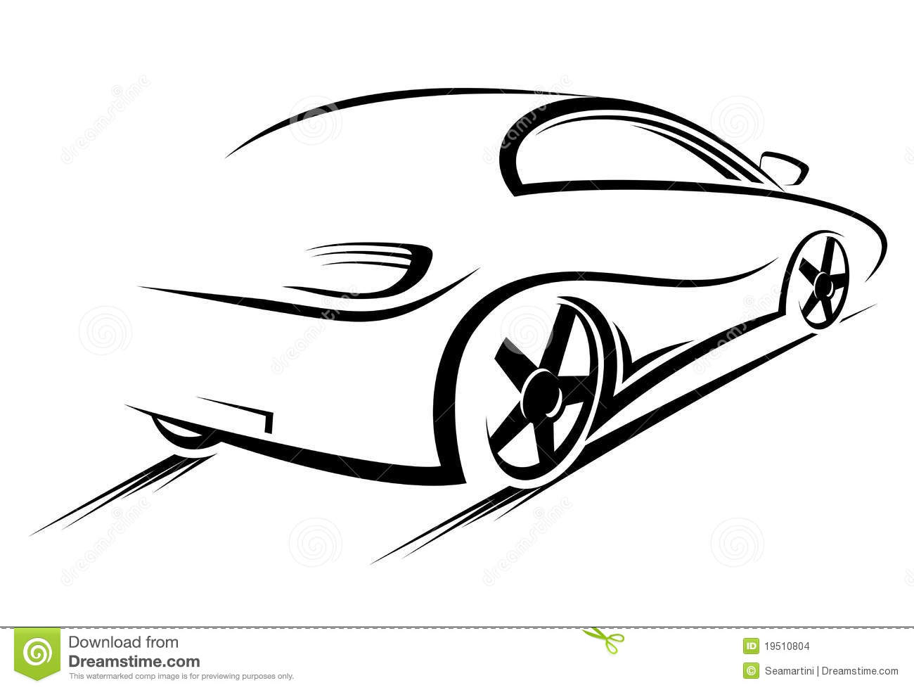 Car Silhouette Stock Vector Illustration Of Black Bumper