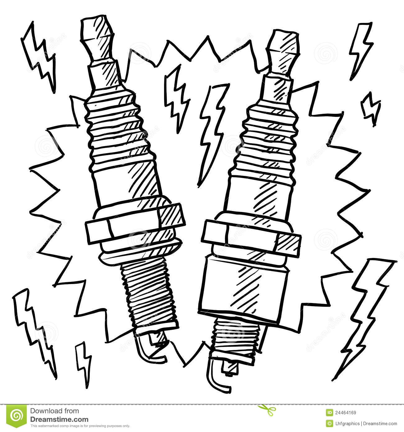 Car Spark Plug Vector Royalty Free Stock Images