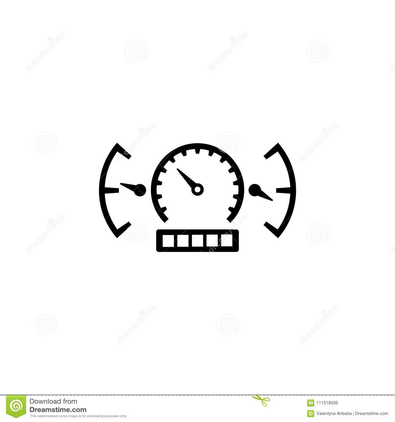 Car Speedometer And Dashboard Stock Vector