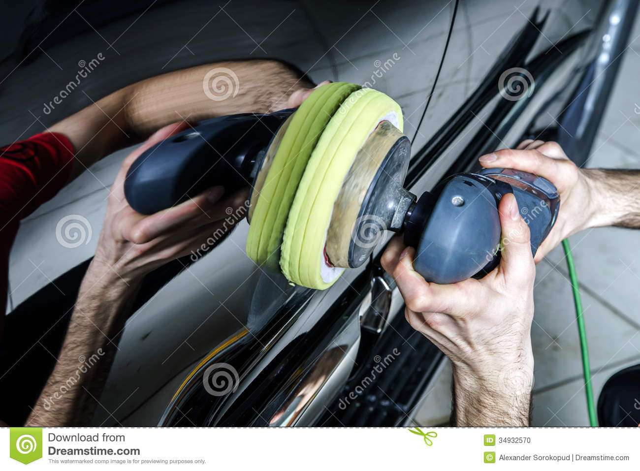 Car Surface Buffing Stock Photo Image Of Automotive